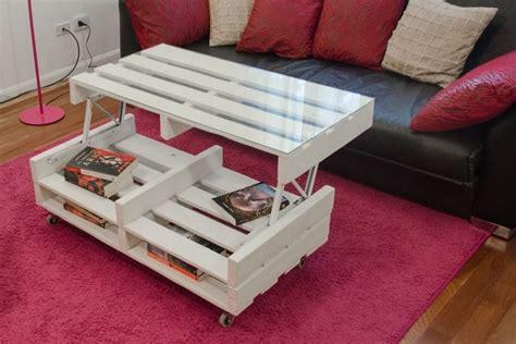 verin pour meuble cuisine table basse relevable meubles en palette 20 idées pour
