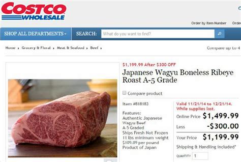 How Much Is A Cowhide Worth - legendary japanese wagyu beef available at costco for 1 200