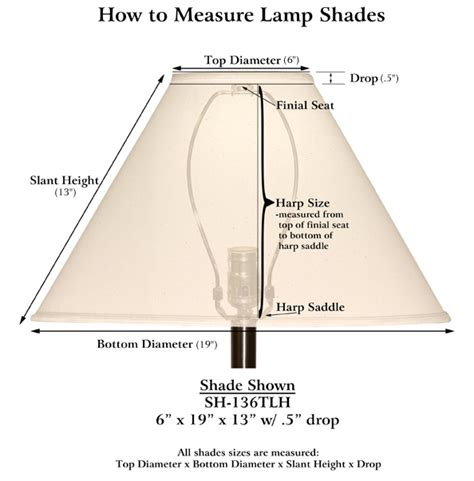 how to measure a l shade medallion l shades