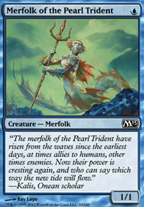 Mtg Merfolk Deck Tapped Out by Merfolk Of The Pearl Trident M13 Mtg Card