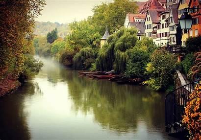 Town Autumn Wallpapers Germany Tuebingen Desktop Deutschland