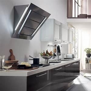 Hotte Aspirante Inclinée : hotte murale inclin e diamante 90cm aspiration ~ Premium-room.com Idées de Décoration
