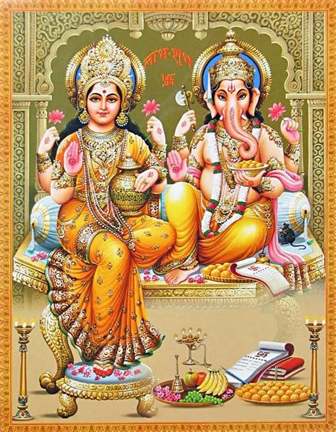 lakshmi and ganesha reprint on glazed paper unframed hh search paper and