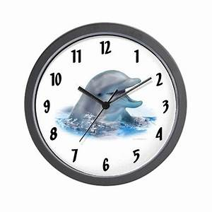 Happy Dolphin Wall Clock By Dolphinkind