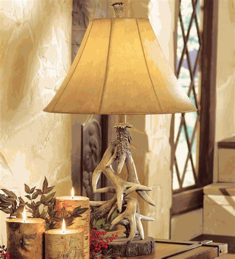 deer antler lamps faux antler table lampblack forest decor