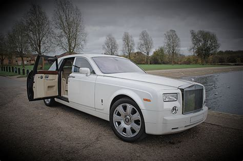White Rolls Royce Phantom Wedding Car Hire