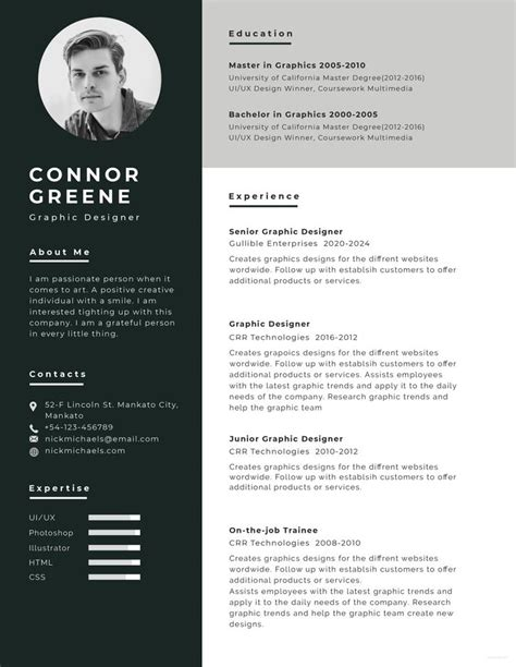 Graphic Resume Templates by Free Resume Templates In Microsoft Word Doc Docx Format