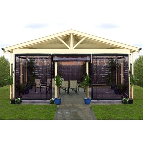 smart home products   cm charcoal pvc outdoor bistro blind