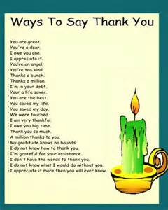 Ways Say Thank You