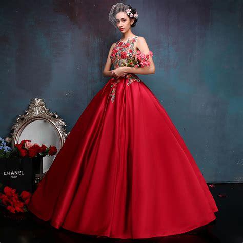 Mano Dress neck floral lace top princess bridal