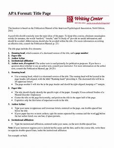 sample research paper format apa style