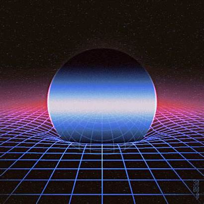 Retro Aesthetic Vaporwave Space 80s Synthwave Animated