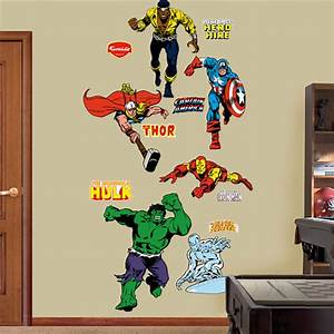 classic superheroes fathead wall sticker With superhero wall decals