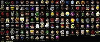 Marvel Heroes Characters Superheroes Names Character Lego
