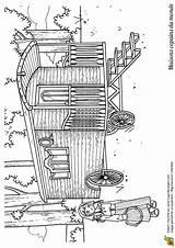 Caravan Dessin Gypsy Tzigane Coloring Coloriage Maison Template Wagon Caravane Monde Vardo Dessiner Du Des Dessins sketch template