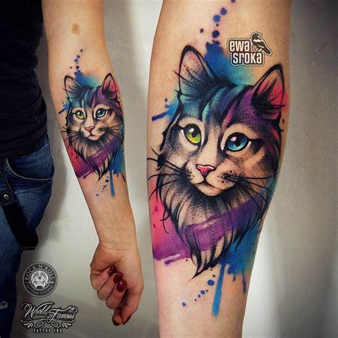 rainbow color tattoos  polish artist ewa sroka inked