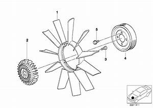 2005 Bmw X5 3 0i E53  Cooling System   Fan Coupling