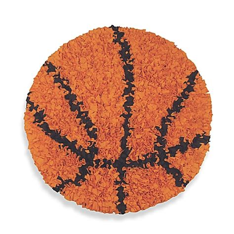 Basketball Area Rug by Buy Shaggy Raggy Round Basketball Rug From Bed Bath Amp Beyond