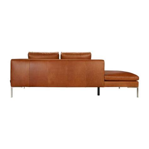 canapé 2 places avec méridienne montino canapé 2 places en cuir aniline vintage leather