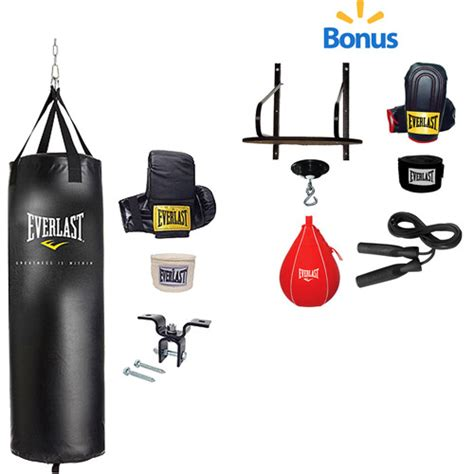 everlast 70 lb heavy bag kit and 6 piece speed bag kit