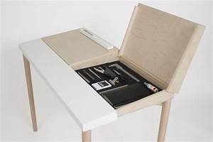Effective Desk Design With Hidden Storage: Slope Desk