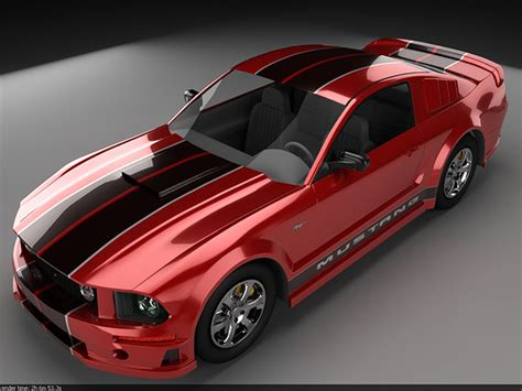 mustang red  black stripes downloads car town