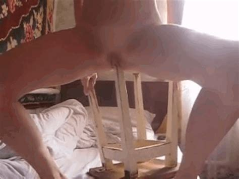 Girl Inserting The Chair Leg On Her Pussy My Own Gifs Made By Me Luscious