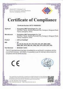 Rohs certificate of compliance guangzhou mex zmpczm016000 13 03 certificate of compliance for Rohs certificate of compliance template