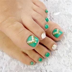 Simple nail art designs for beautiful feet nailkart