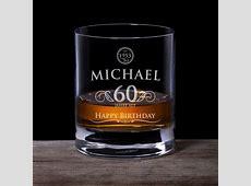 Whiskyglas 60 Geburtstag elegant mit personalisierter