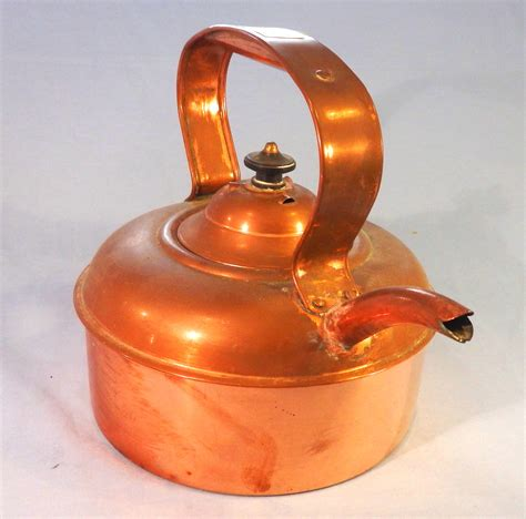 vintage tin lined copper kettle collectable china
