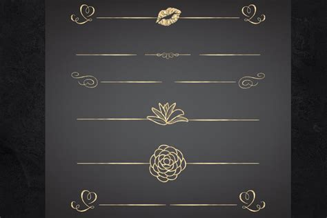 page dividers  borders gold foil clipart dividers