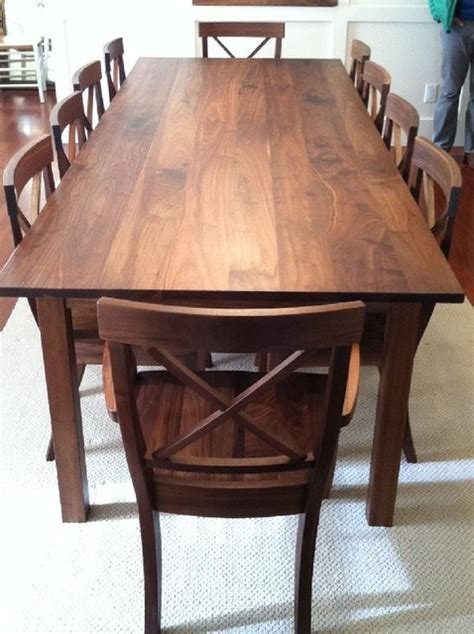 "Solid Walnut ""mission"" Dining Table  Contemporary"