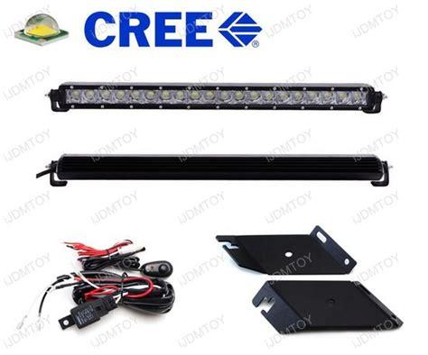jeep light bar at night 1 piece 21 quot hood mount lighting kit for jeep wrangler
