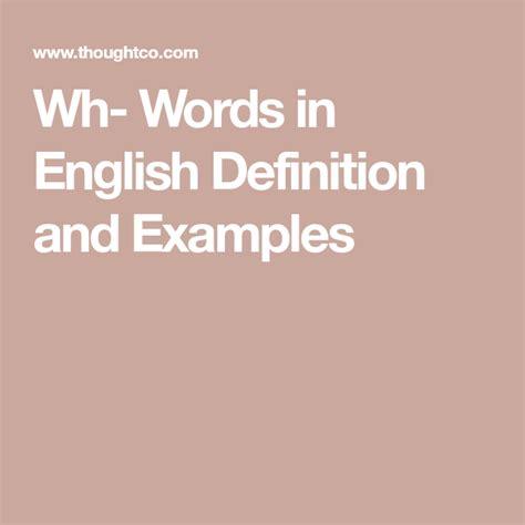 wh words  english grammar words