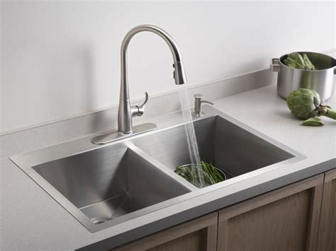 kitchen sink with faucet sink faucet design kohler collection kitchen sinks