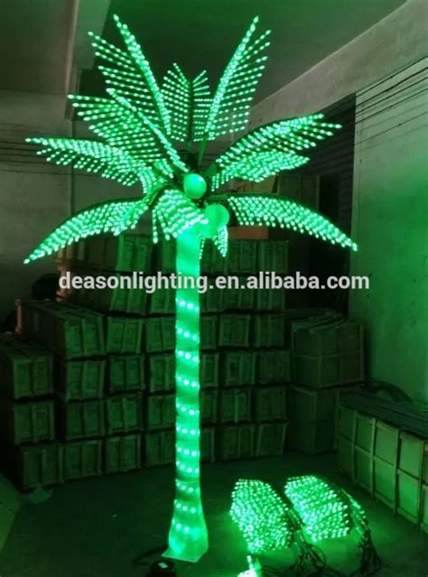 decorative palm trees with lights led artificial decorative outdoor lighted palm tree