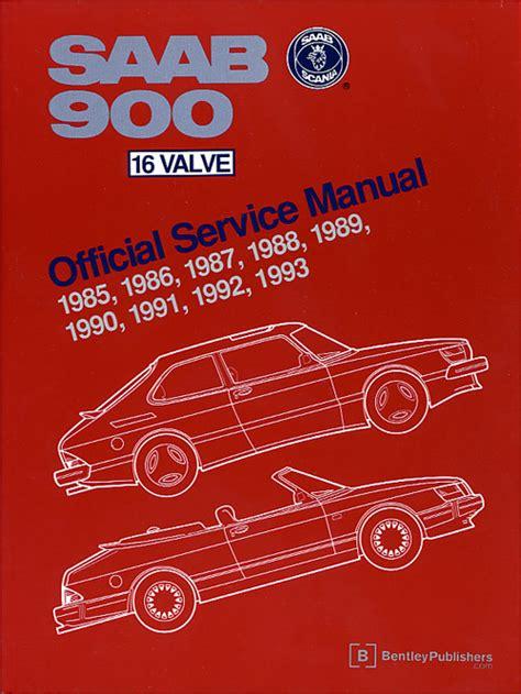 automotive repair manual 1992 saab 900 free book repair manuals front cover saab repair manual 900 16 valve 1985 1993 bentley publishers repair manuals