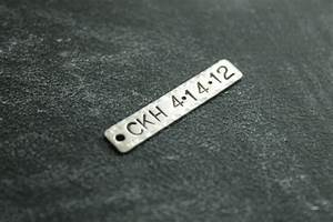 vanhook co metal stamping sterling silver With stamping letters into metal