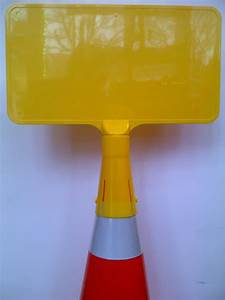 Cone Mounted Sign Yellow