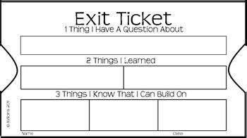 Ticket Of Leave Template by Exit Ticket 3 2 1 By For Equal Access Teachers Pay Teachers