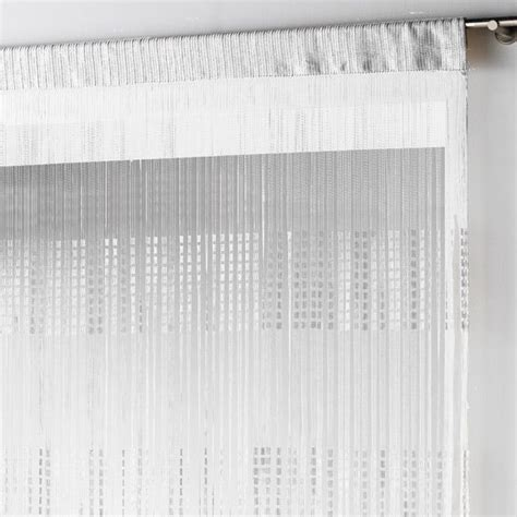 rideau fils largeur 140 cm spaghetti blanc rideau de