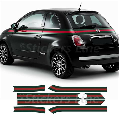 2012 fiat 500 lounge gucci hatchback 2d $9,999 (san jose west) pic hide this posting restore restore this posting. Fasce adesive Fiat 500 GUCCI Adesivi gucci strisce adesive ...