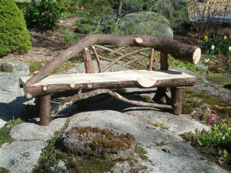 rustic garden bench provides unique exterior fresh