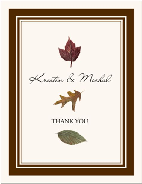 fall leaves stationery autumn theme wedding products fall