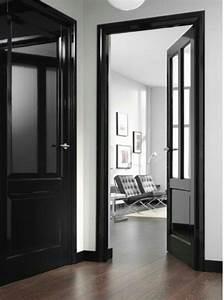 porte noire satinee brillantjpgjpeg portes noires With porte de garage et porte interieur noire