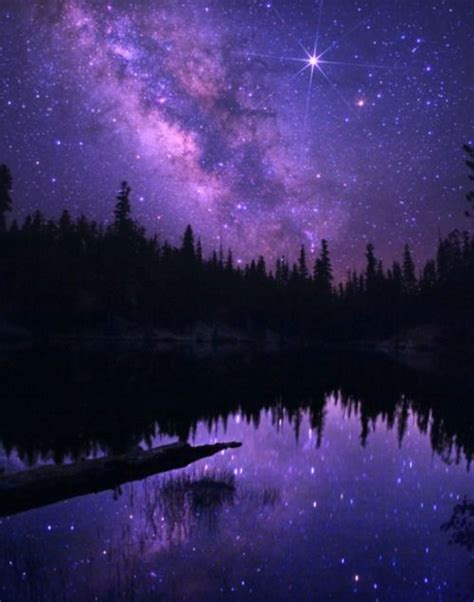Purple Starry Night Would Like See This Real Life