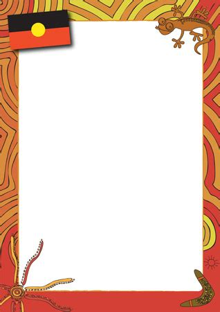 aboriginal themed notepaper  early years primary