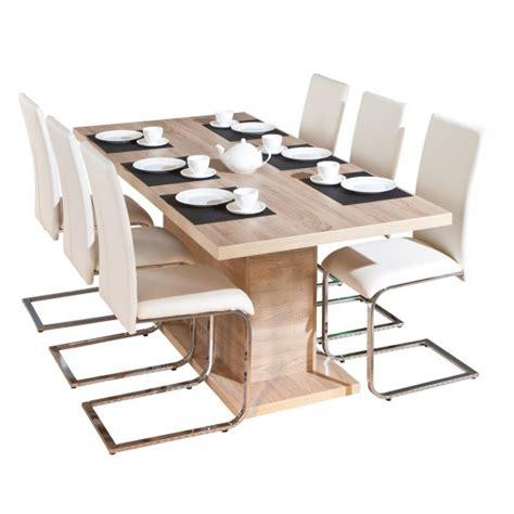 myca table pied central avec allonge altobuy fr meuble et literie