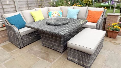 sofa dining set garden patio furniture sofa patio dining table set outdoor
